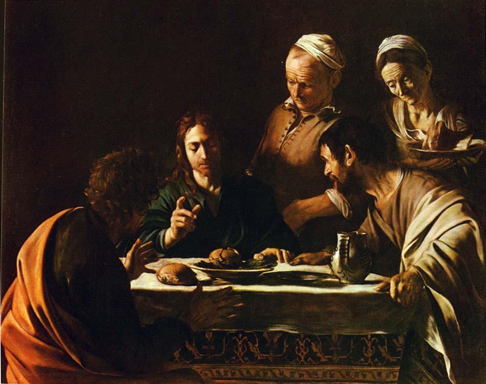 Cena en Emaús - Caravaggio (1606)