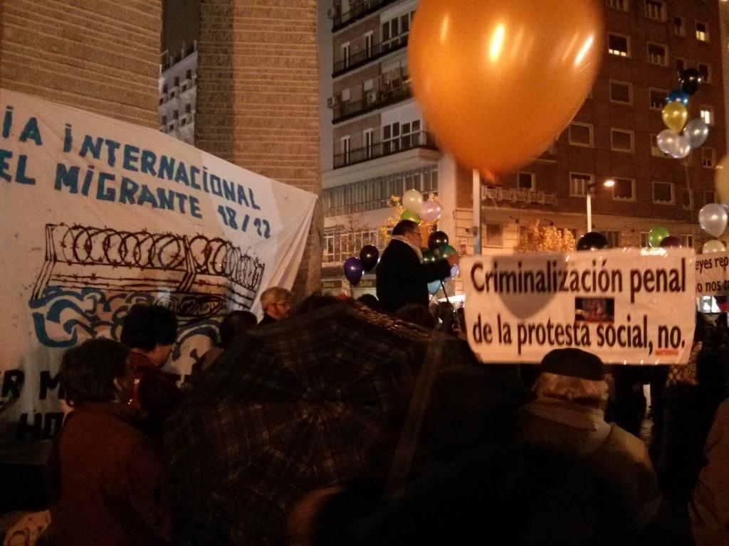 Imagen de la concentración del día del migrante