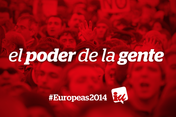 Cartel de IU para las elecciones europeas 2014